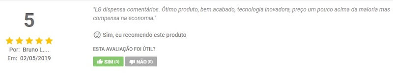 Review do Bruno sobre a LG