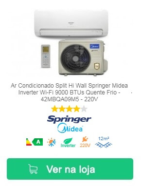 Springer Midea Split Wi-Fi Inverter 9000 BTUs