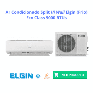 Ar Condicionado Split Hi Wall Elgin Eco Class 9000 BTUs Frio 220V