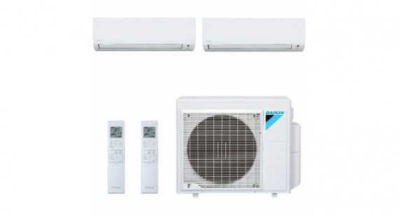 Ar Condicionado Multi Split Inverter Daikin Advance 18000 BTUs + 2x Evap 9000 BTUs Q/F S2MXS1809P Kit