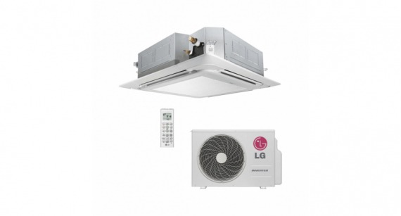 Ar Condicionado Split Cassete LG Inverter 17000 BTUs Frio AT-Q18GPLE3 Kit
