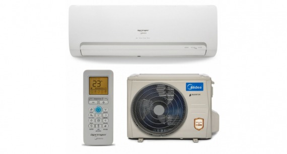 Ar Condicionado Split Inverter Springer Midea Hi Wall 12000 BTUs Frio 42MBCB12M5 - Kit