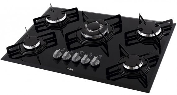 Cooktop Philco 5 Bocas Cook Chef 5 TC Preto Bivolt